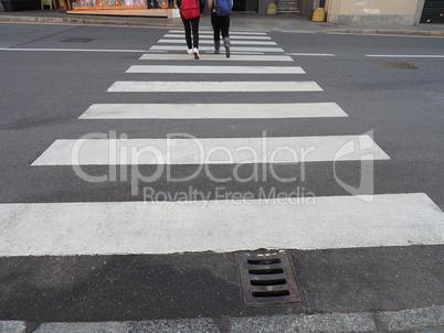 Zebra crossing sign