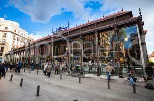 San Miguel Market (Mercado San Miguel) on city centre of Madrid
