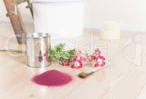 Farbauswahl zum malen mit Blumen