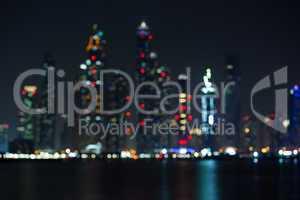 blured city light of Dubai