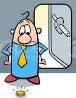 bankrupt businessman cartoon
