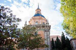San Andres Church on a sunny spring day in La Latina District, M