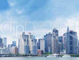 Midtown Manhattan skyline from East River