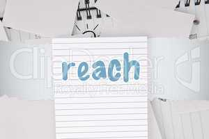 Reach against brainstorm covered by white paper