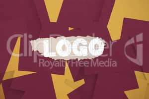 Logo against wine paper strewn over orange