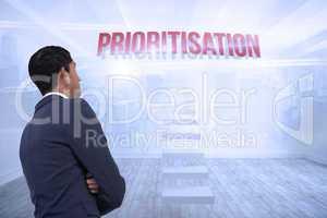 Prioritisation against city scene in a room