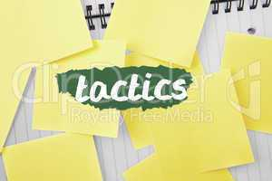 Tactics against sticky notes strewn over notepad