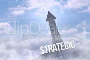 Strategic against road turning into arrow