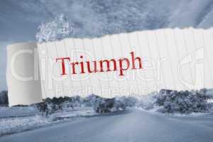 Triumph against warped road
