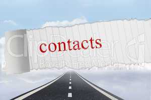 Contacts against open road background