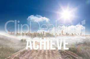 Achieve against stony path leading to large urban sprawl under t
