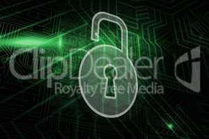 Composite image of lock