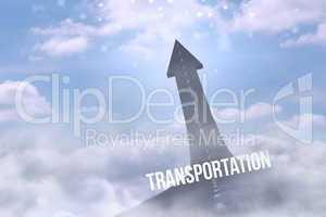 Transportation against road turning into arrow