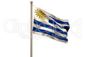 Digitally generated uruguay national flag