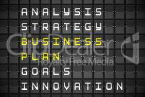 Business plan on black mechanical board