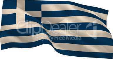 Digitally generated greek national flag