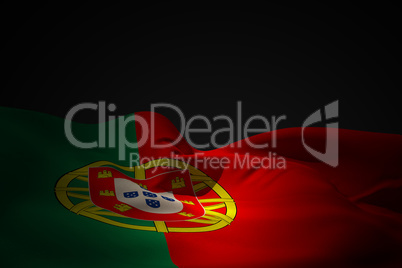 Portugal flag waving
