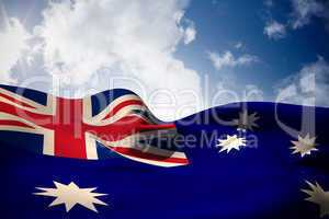 Australia flag waving