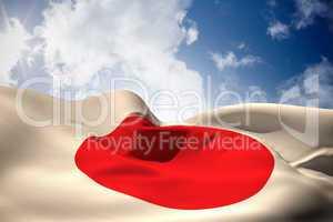 Japan flag waving