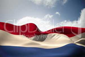 Netherlands flag waving