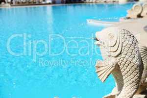 The swimming pool at luxury hotel, Antalya, Turkey