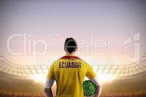 Ecuador football player holding ball