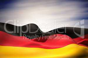 Germany flag waving
