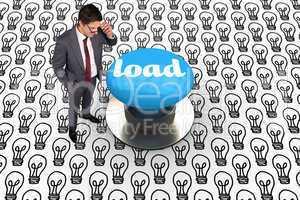 Load against blue push button