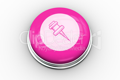 Pointer graphic on pink button