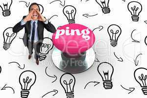 Ping against pink push button