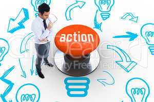 Action against orange push button