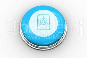 Locked vault graphic on blue button