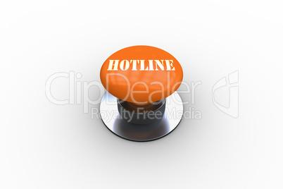 Hotline on orange push button