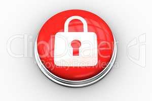Composite image of lock graphic on button