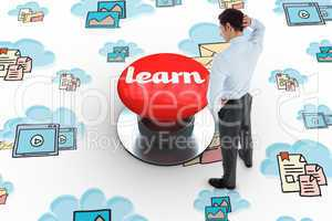 Learn against digitally generated red push button