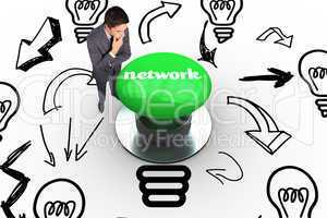 Network against digitally generated green push button