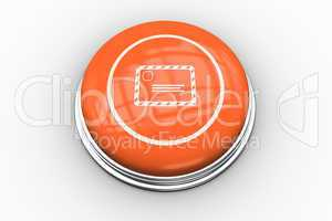 Envelope graphic on orange button