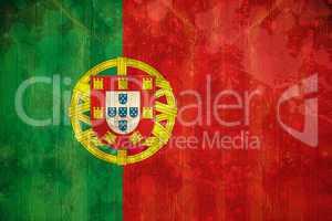 Portugal flag in grunge effect