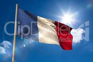 France national flag on flagpole