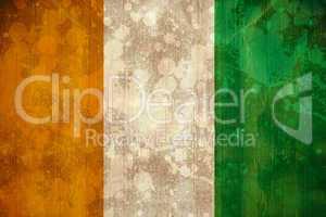 Ivory coast flag in grunge effect