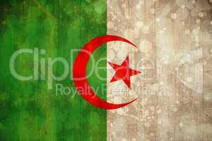 Algeria flag in grunge effect