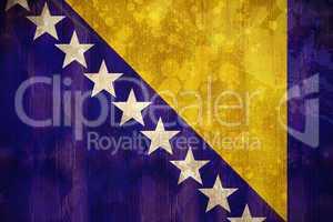 Bosnia flag in grunge effect