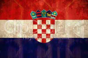 Croatia flag in grunge effect