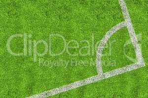 Corner of football pitch