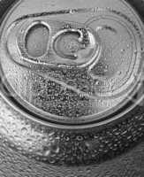 aluminum can closeup