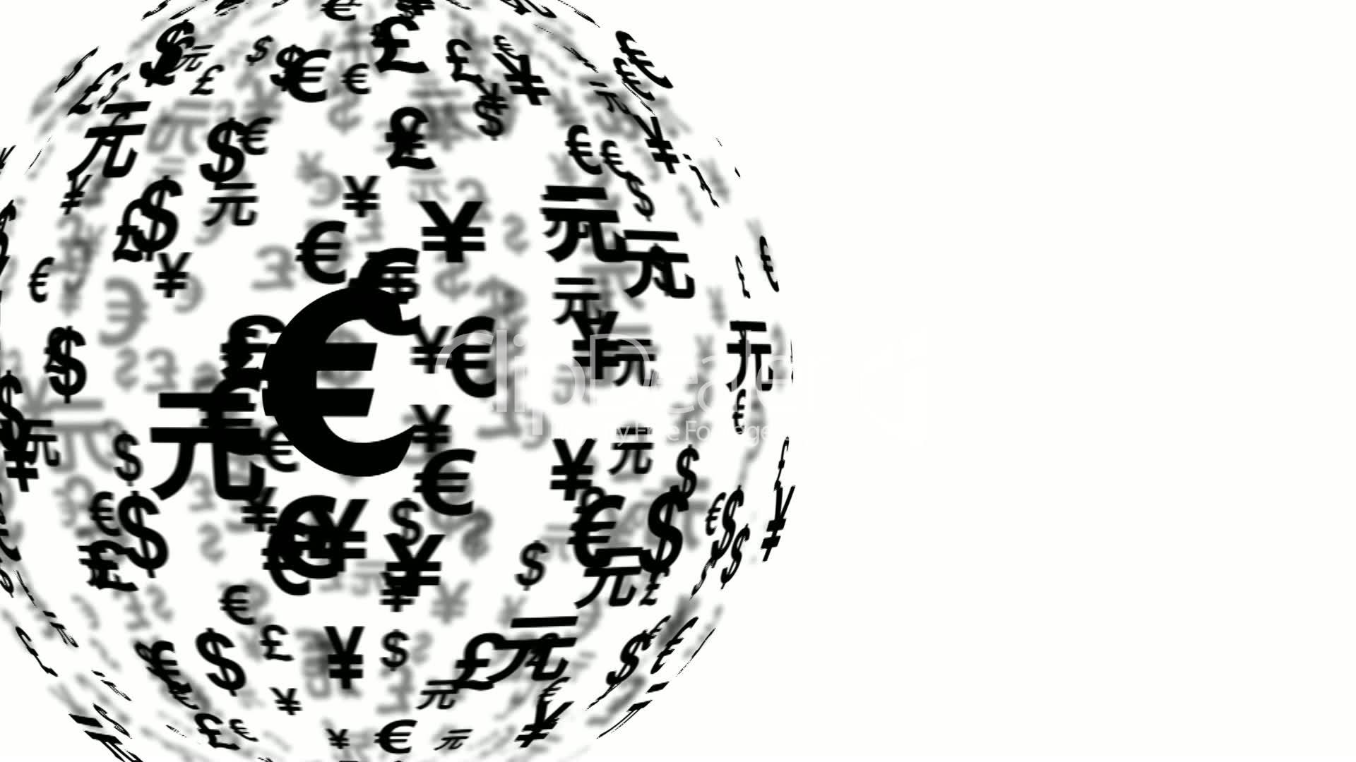 Currency Symbols Globe Rotating 11600 Royalty Free Video And Stock