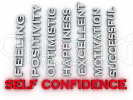 3d image self confidence issues concept word cloud background