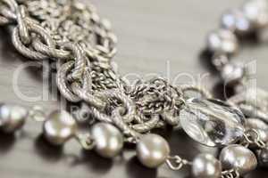 Assorted silver costume jewellery