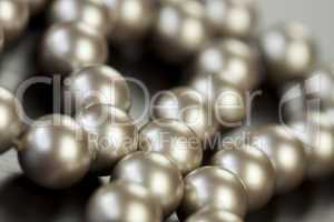 String of shiny grey beads