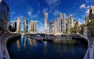 Dubai Marina Vereinigte Arabische Emirate Hochhäusern